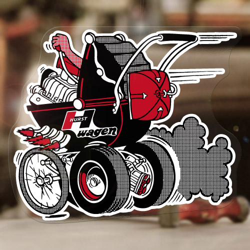 Hurst Baby Buggy Sticker Decal Old School Stroller Drag
