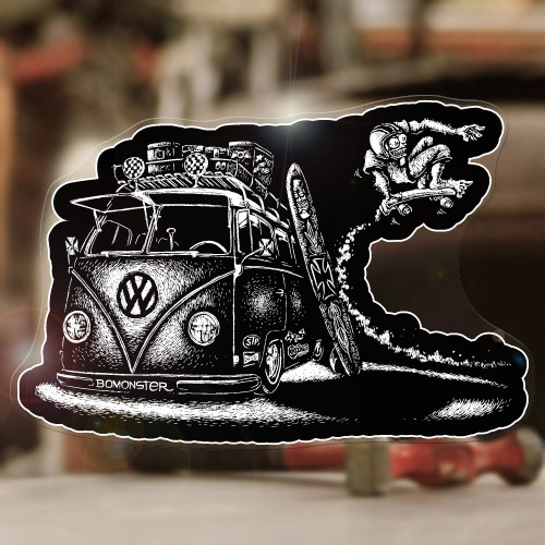 "Revmaster sticker decal bug beetle bus aircooled splitscreen volksrod MOON 5.25/"""